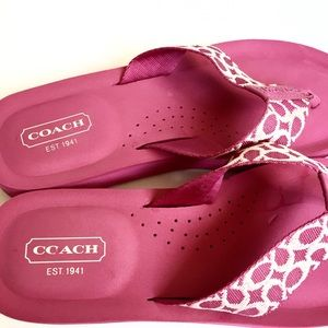 11d35d8a2 Women s Pink Coach Flip Flops on Poshmark